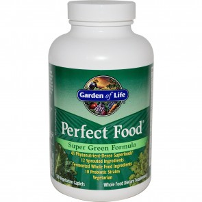 Garden of Life Perfect Food Super Green Formula 150 Vegan Caplets