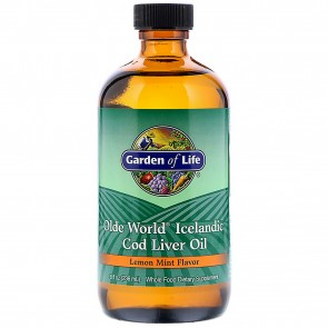 Garden of Life Olde World Icelandic Cod Liver Oil Lemon Mint 8 oz