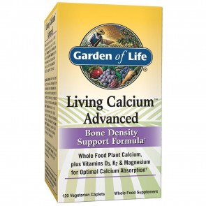 Garden of Life Living Calcium Advanced Bone Density Support Formula 120 Vegetarian Caplets