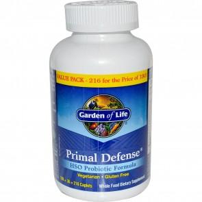 Garden of Life Primal Defense HSO Probiotic Formula 216 Vegan Caplets