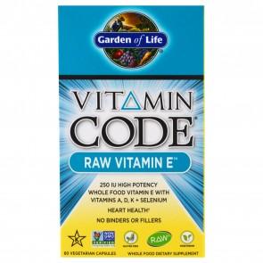 Garden of Life Vitamin Code Raw Vitamin E 60 Vegetarian Capsules