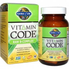 Garden of Life Vitamin Code R B-Complex 60 Vegan Capsules