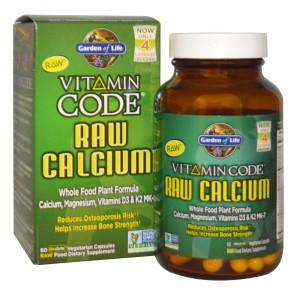 Garden of Life Vitamin Code Raw Calcium 60 Vegetarian Capsules