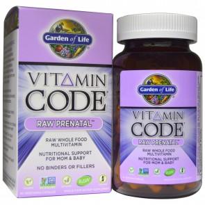 Garden of Life Vitamin Code Raw Prenatal 90 Vegetarian Capsules
