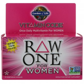 Garden of Life Vitamin Code RAW One For Women 75 Vegetarian Capsules