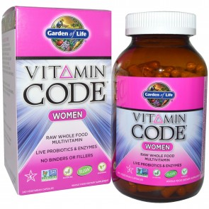 Garden of Life Vitamin Code RAW Women 240 Vegetarian Capsules