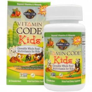 Garden of Life Vitamin Code Kids Multivitamin Cherry Berry 30 Chewable Bears