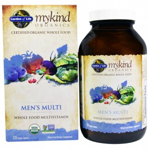 Garden of Life MyKind Organics Men's Multi Whole Food Multivitamin 120 Vegan Tablets