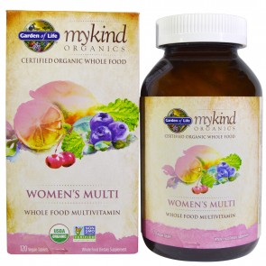 Garden of Life MyKind Organics Women's Multi 120 Vegan Tablets