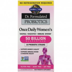 Garden of Life Dr. Formulated Probiotic Once Daily Womens 50 Billion 30 Vegetarian Capsules
