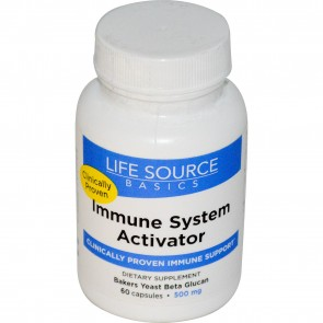 Life Source Basics Immune System Activator with BetaRight WGP 500 mg 60 Capsules