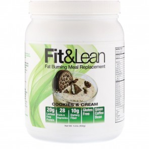 Fit and Lean Fat Burning Meal Replacement Cookies and Cream 1.0 lbs