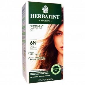 Herbal Haircolor Permanent Gel 6N Dark Blonde - 4.5 oz.