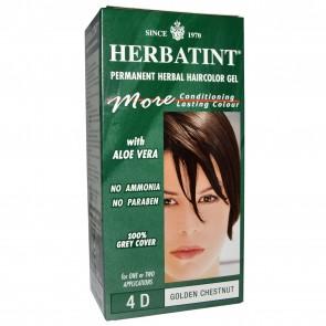Herbatint Permanent Herbal Haircolour Gel 4D Golden Chestnut