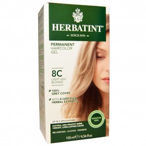 Herbal Haircolor Permanent Gel 8C Light Ash Blonde