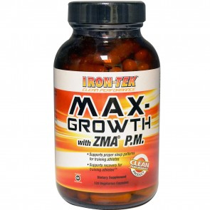 Iron-Tek Max-Growth With ZMA P.M. 120 Vegetarian Capsules