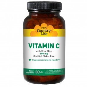 Country Life Vitamin C 500 Rosehips 100 Tablets