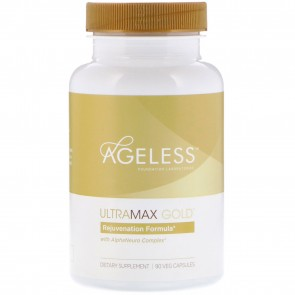 Ageless Foundation Laboratories UltraMax Gold with AlphaNeuro Complex 90 Capsules