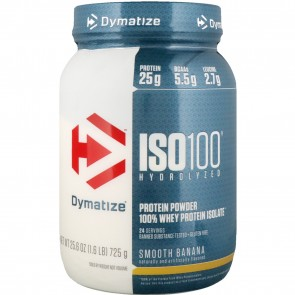 Dymatize Nutrition ISO-100 100% Whey Protein Isolate Smooth Banana 1.6 lb