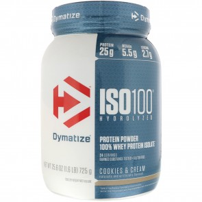 Dymatize Nutrition ISO-100 100% Whey Protein Isolate Cookies & Cream 1.6 lbs