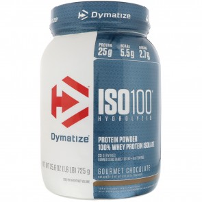 Dymatize Nutrition ISO-100 100% Whey Protein Isolate Gourmet Chocolate 1.6 lb