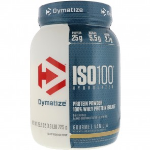 Dymatize Nutrition ISO-100 100% Whey Protein Isolate Gourmet Vanilla 1.6 lb