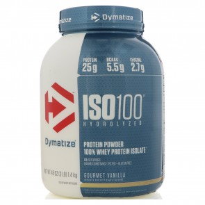 Dymatize Nutrition ISO-100 100% Whey Protein Isolate Gourmet Vanilla 3 lbs