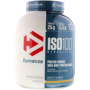 Dymatize Nutrition ISO-100 100% Whey Protein Isolate Smooth Banana 5 lb