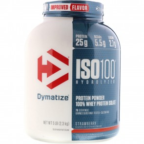 Dymatize Nutrition ISO-100 100% Whey Protein Isolate Strawberry 5 lb