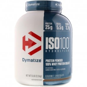 Dymatize Nutrition ISO-100 100% Whey Protein Isolate Gourmet Chocolate 5 lb