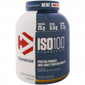 Dymatize Nutrition ISO-100 100% Whey Protein Isolate Peanut Butter 5 lbs