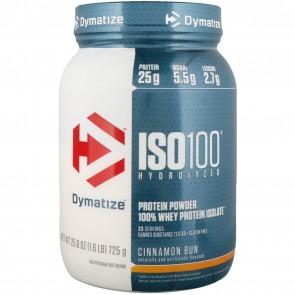Dymatize Nutrition ISO-100 100% Whey Protein Isolate Cinnamon Bun 1.6 lb