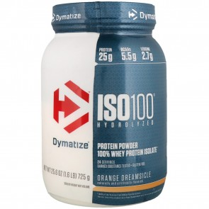 Dymatize Nutrition ISO-100 100% Whey Protein Isolate Orange Dreamsicle 1.6 lb