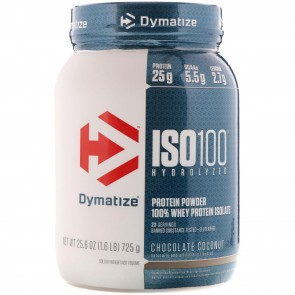 Dymatize Nutrition ISO-100 100% Whey Protein Isolate Chocolate Coconut 1.6 lb