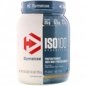 Dymatize Nutrition ISO-100 100% Whey Protein Isolate Peanut Butter 1.6 lb