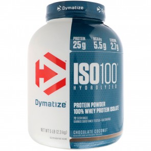 Dymatize Nutrition ISO-100 100% Whey Protein Isolate Chocolate Coconut 5 lbs