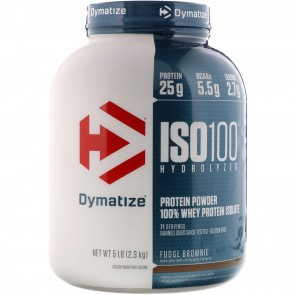 Dymatize Nutrition ISO-100 100% Whey Protein Isolate Fudge Brownie 5 lbs