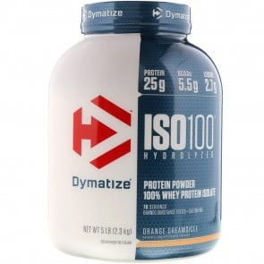 Dymatize Nutrition ISO-100 100% Whey Protein Isolate Orange Dreamsicle 5 lb