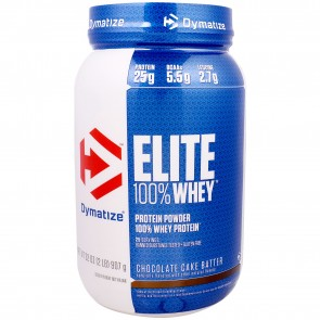 Dymatize Elite 100% Whey Protein Chocolate Cake Batter 2lbs