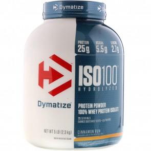 Dymatize Nutrition ISO-100 100% Whey Protein Isolate Cinnamon Bun 5 lb