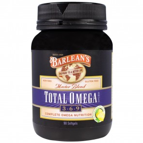 Barlean's Master Blend Total Omega  3.6.9 90 Softgels