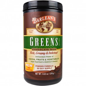 Barlean's Greens Chocolate Silk 9.52 oz
