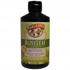 Barlean's Fresh Pressed Olive Leaf Complex Full Spectrum Liquid Natural Flavor 16 oz