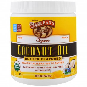 Barlean's Organic Coconut Oil Butter Flavored 16 oz