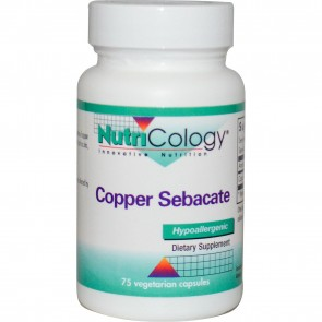 NutriCology Copper Sebacate 75 Vegetarian Caps