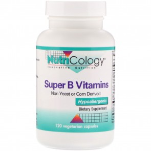 Nutricology Super B Vitamins 120 Vegetarian Capsules