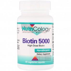 NutriCology Biotin 5000 60 Vegetarian Caps