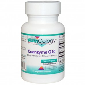 NutriCology Coenzyme Q10 50 Mg 75 Vegetarian Capsules