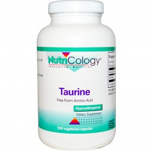 Nutricology Taurine 1000 Mg 250 Vegetarian Caps