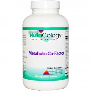 NutriCology Metabolic Co-Factor 180 Vegetarian Capsules